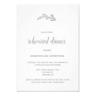 Grey branch rehearsal dinner invitations
