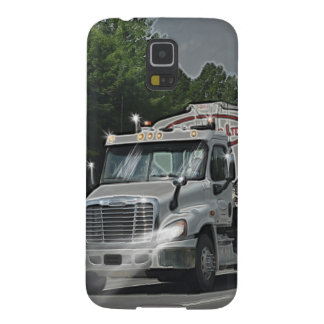 Grey Cattle Feed Cistern Truck for Truckers & Kids Cases For Galaxy S5