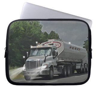 Grey Cattle Feed Cistern Truck for Truckers & Kids Computer Sleeve