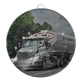 Grey Cattle Feed Cistern Truck for Truckers & Kids Dart Boards