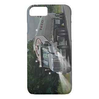 Grey Cattle Feed Cistern Truck for Truckers & Kids iPhone 8/7 Case