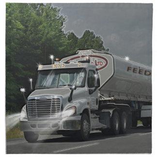 Grey Cattle Feed Cistern Truck for Truckers & Kids Napkin