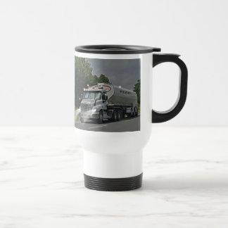 Grey Cattle Feed Cistern Truck for Truckers & Kids Travel Mug