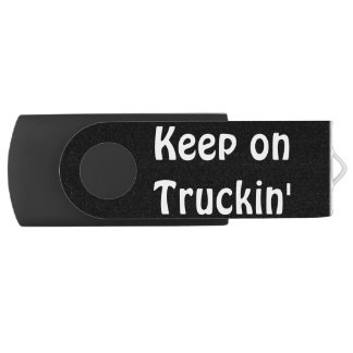 Grey Cattle Feed Cistern Truck for Truckers & Kids USB Flash Drive