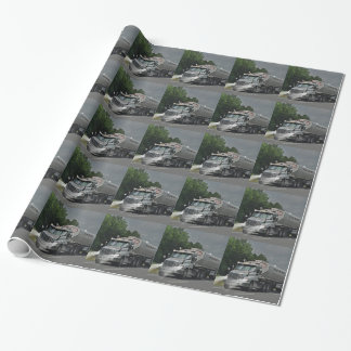 Grey Cattle Feed Cistern Truck for Truckers & Kids Wrapping Paper
