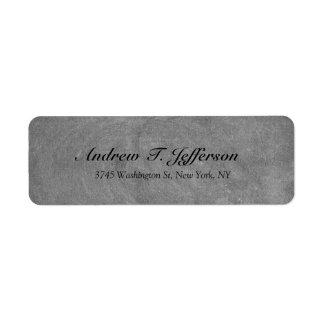 Grey Chalkboard Handwriting Professional Return Address Label