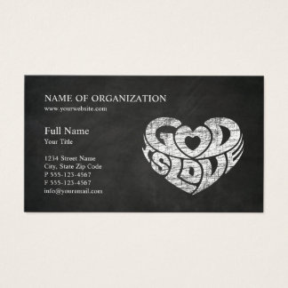 Grey Christian Church Pastor | Religious Ministry Business Card