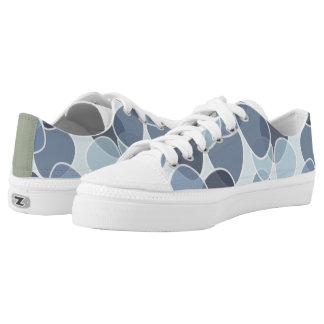 Grey Circle Pattern Printed Shoes