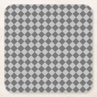 Grey Combination Diamond Pattern Square Paper Coaster