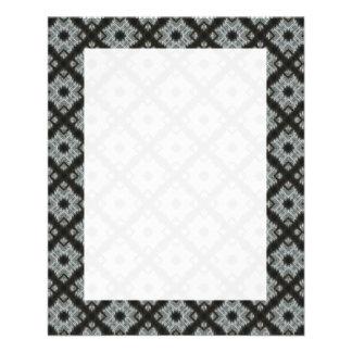 Grey crisscross 11.5 cm x 14 cm flyer