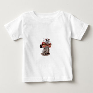 Grey Dragon with angry open mouth grin Baby T-Shirt