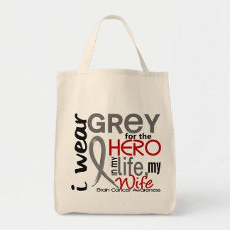 Grey For My Hero 2 Wife Brain Cancer Bag
