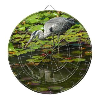 Grey Heron Ardea Cinerea Dartboard