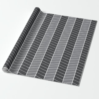 Grey Herringbone Wrapping Paper