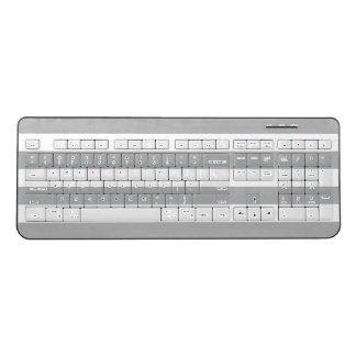 Grey Horizontal Stripes Wireless Keyboard