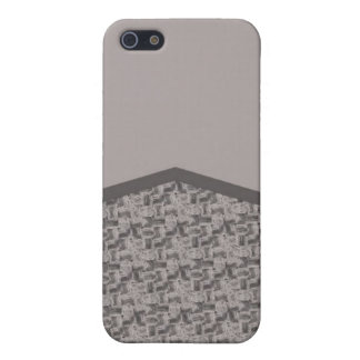 Grey houndstooth texture iPhone 5 cases