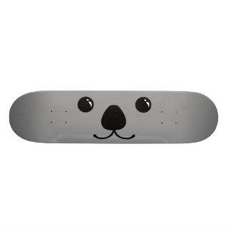 Grey Koala Cute Animal Face Design Skate Boards