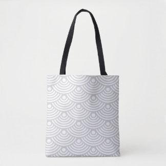 Grey Modern Waves Tote Bag