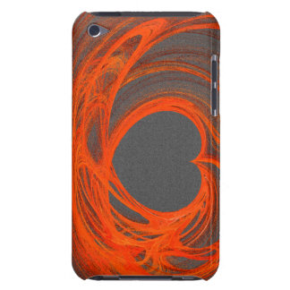 Grey orange heart ipod case iPod touch Case-Mate case