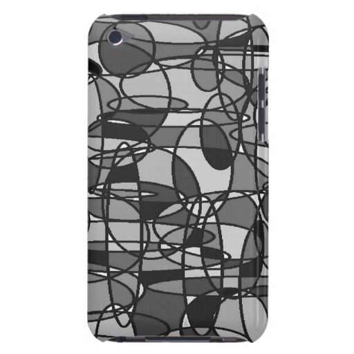 Grey Ovals iPod Touch Case