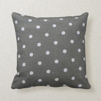 grey polka dot pillow cushions