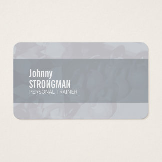 Grey professional trainer business card