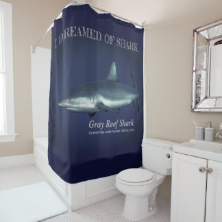 Grey Reef Shark Shower Curtain