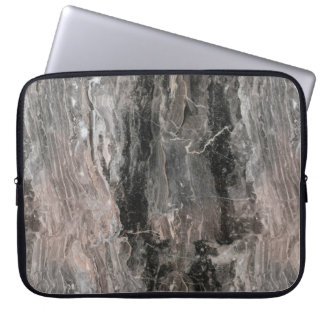 Grey Spotted Marble Stone Computer Sleeves