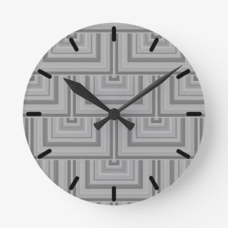 Grey square scales round clock