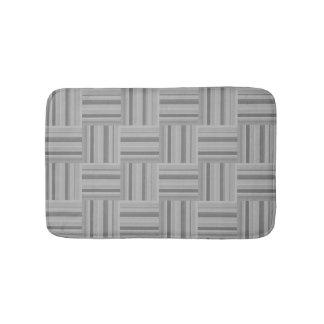 Grey stripes weave pattern bath mats
