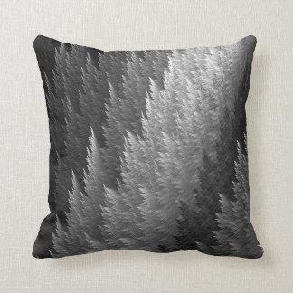 Grey Tartan Feather Pattern Design Throw Pillow