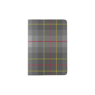 Grey Tartan Passport Holder