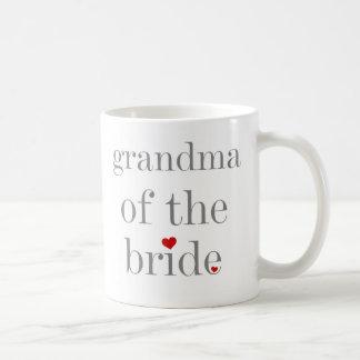 Grey Text Grandma of Bride Coffee Mug