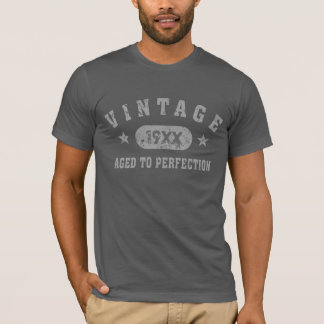 Grey Text Vintage Aged to Perfection T-shirt