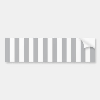 Grey Vertical Stripes Bumper Sticker