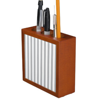 Grey Vertical Stripes Desk Organisers