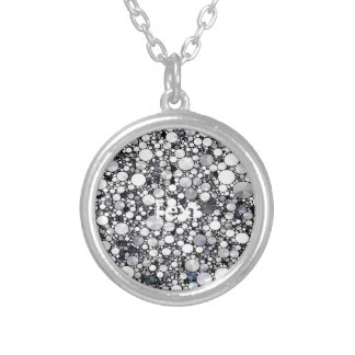 Grey White Bling Pattern Necklaces