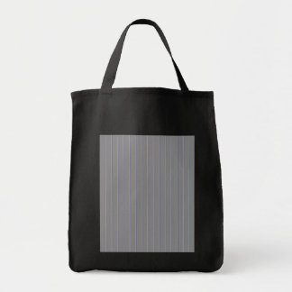 Grey with Blue Pinstripes Tote Bags