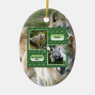 Grey Wolf Christmas Ornament