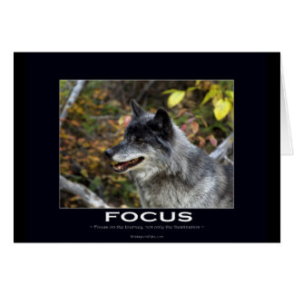 Grey Wolf Motivational Gifts Card