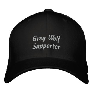 Grey Wolf Supporter Embroidered Cap