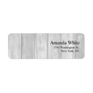 Grey Wood Plain Elegant Minimalist Modern Return Address Label