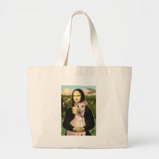 Greyhound 2 - Mona Lisa Large Tote Bag