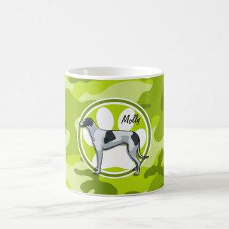 Greyhound bright green camo camouflage coffee mug