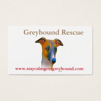 Greyhound  dog business card