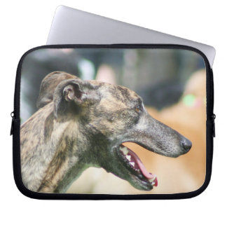Greyhound dog laptop sleeve