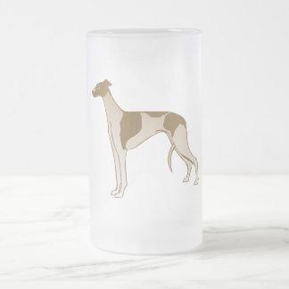 Greyhound Frosted Glass Mug