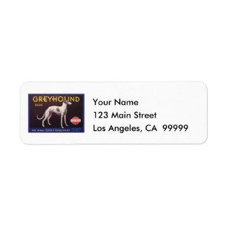 Greyhound Fruit Crate Label Return Address Label
