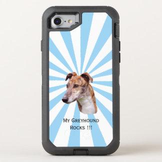 Greyhound on white starburst OtterBox defender iPhone 8/7 case