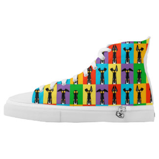 Greyhound Semaphore High Tops Printed Shoes